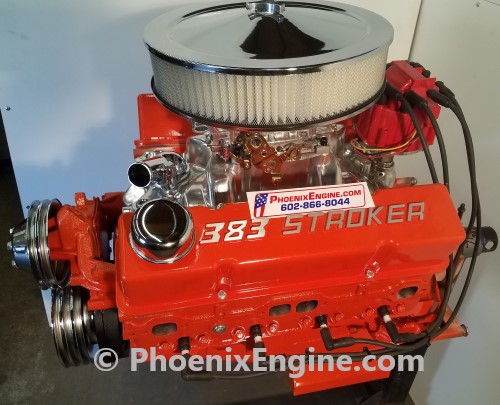 Chevy 383 ci 350 to 560 hp Midnight Orange Turnkey Package