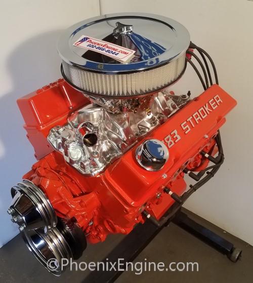 Chevy 383 ci 350 to 560 hp Midnight Orange Turnkey Package