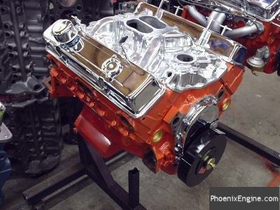 Chevy 327 Crate Engine 350HP Chevy Orange Complete Engine