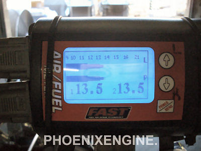 Fast Track readout of Chevy 383 turnkey engine from Phoenix Engine Rebuilders