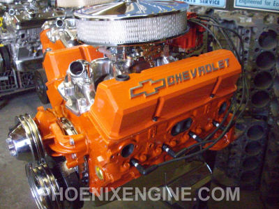 Chevy 350 ci 355 to 410 hp Midnight Orange Turnkey Crate Engine with
