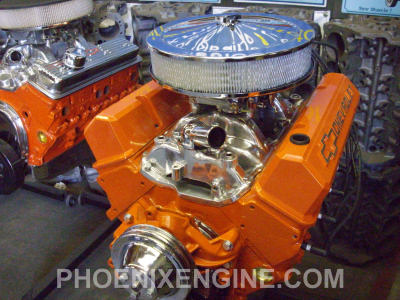Chevy 383 ci 350 to 560 hp Midnight Orange Turnkey Package Crate